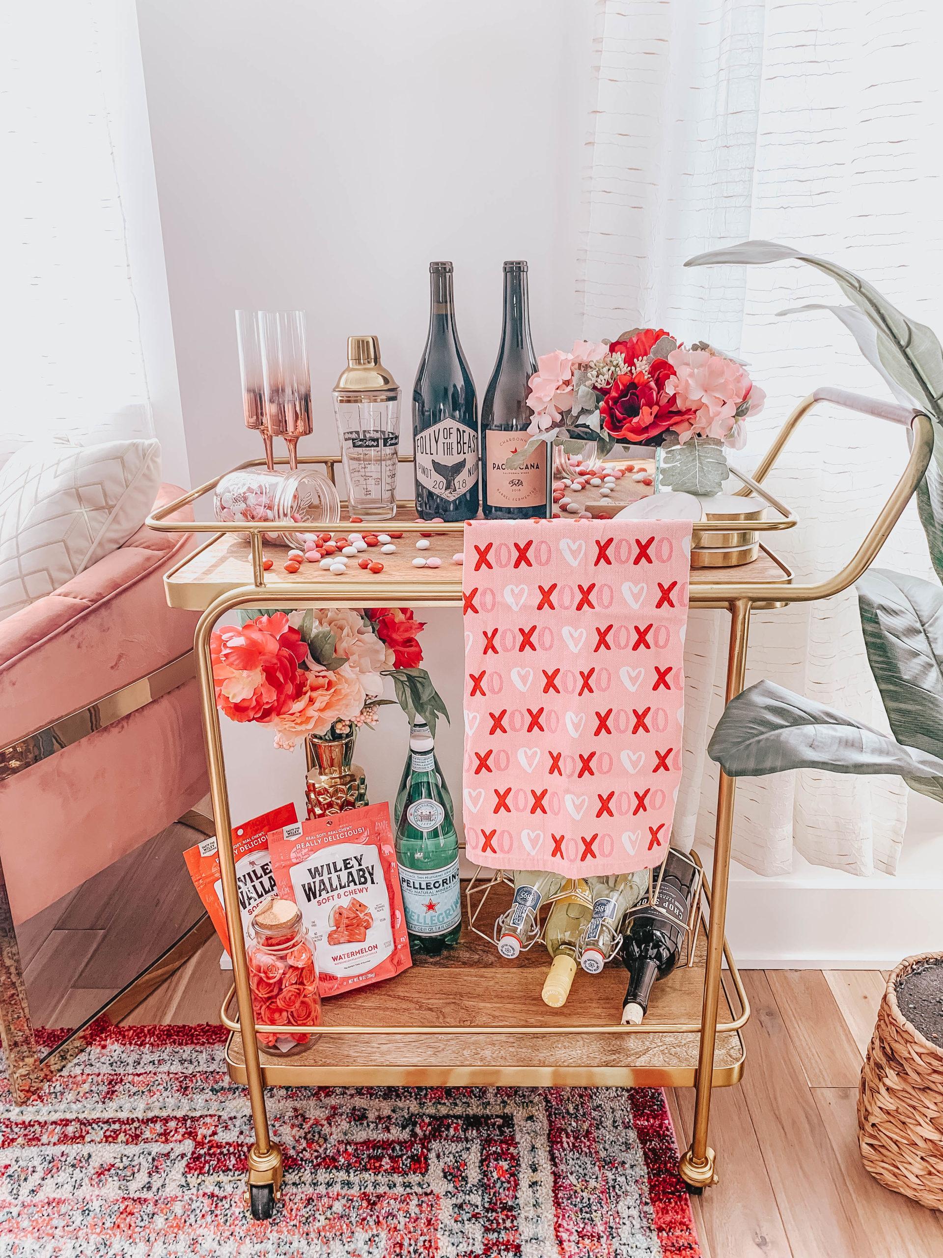 Valentine's Bar Cart